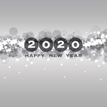 Best Wishes - New Year Card, Cover or Background Design Template with Stars - 2020 Banque d'images - 134691921