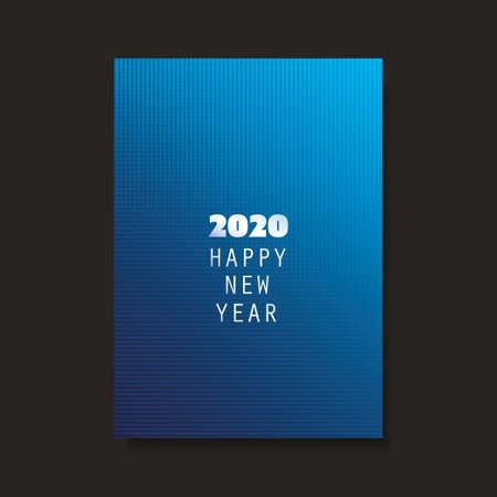 Best Wishes - New Year Flyer, Card or Background Vector Design - 2020 Illusztráció