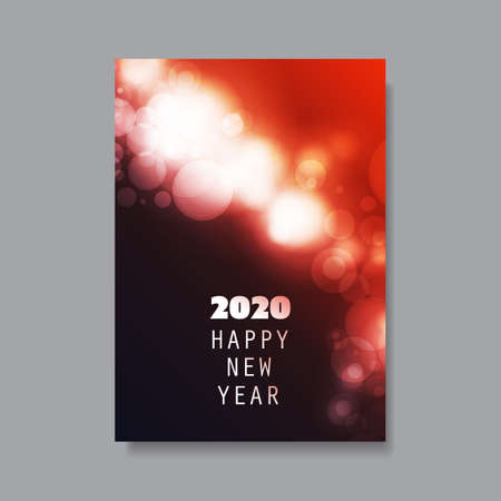 Best Wishes - New Year Flyer, Card or Background Vector Design - 2020 Çizim