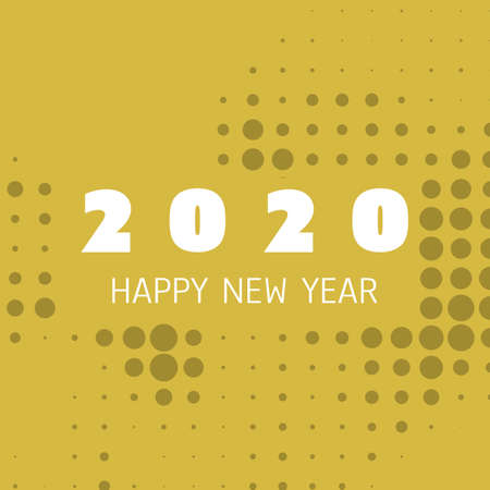 Simple Colorful New Year Card, Cover or Background Design Template - 2020 Foto de archivo - 135498813