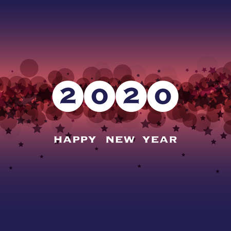 Best Wishes - New Year Card, Cover or Background Design Template - 2020