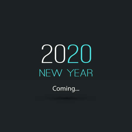 Simple Dark New Year's Coming Typography, Concept Design - 2020
