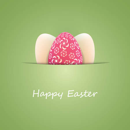 Happy Easter Card with Colorful Easter Eggs Vettoriali