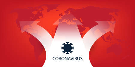 Coronavirus Spreading All Around the World - Vector Design Concept with World Map