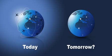 Flight Cancellations All Around the World - Design Concept Vecteurs