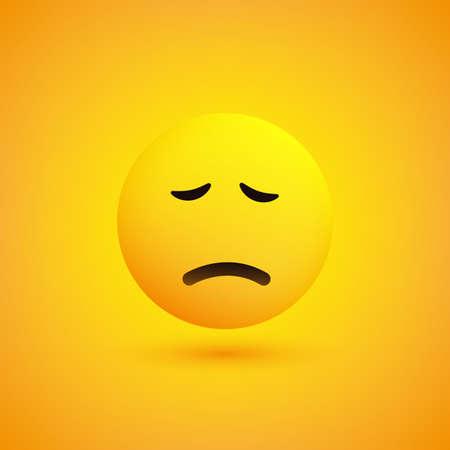 Sad Pensive Face - Emoticon - Vector Design Vector Illustratie
