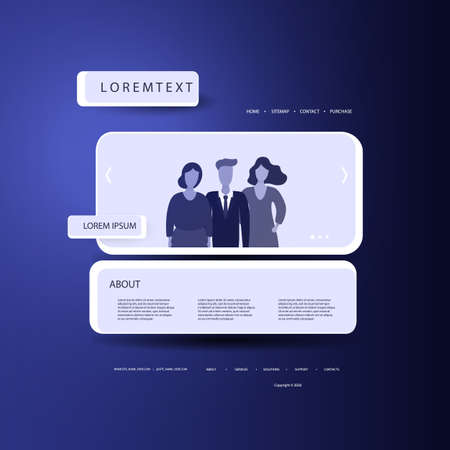 Website Design Template for Your Business with People in the Header