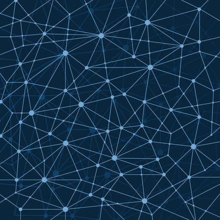 Abstract Dark Blue Multi Layered Networks Pattern Background, Polygonal Network Mesh Vetores
