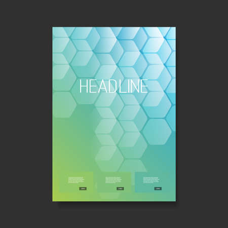 Modern Style Flyer or Cover Designfor Your Business with Cubic Pattern - Applicable for Reports,Presentations, Placards, Posters - Creative Vector Template