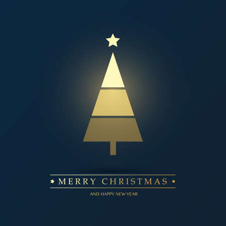 Abstract Christmas Tree Design - Vector Illustrations