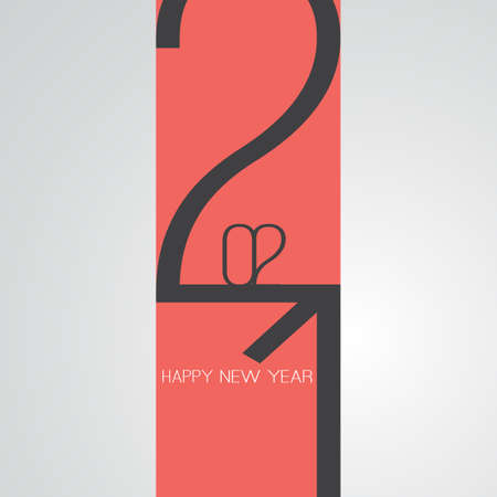 Best Wishes - Funny Retro Style Happy New Year Greeting Card or Background, Creative Design Template - 2021