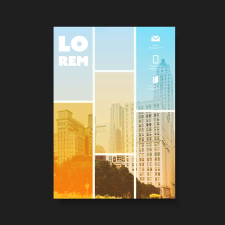Modern Style Flyer or Cover Design for Your Business with Skyscraper, Urban Theme - Applicable for Business Reports, Presentations, Placards, Posters