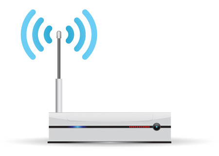 Minimalist router, with wireless transmission Illustration