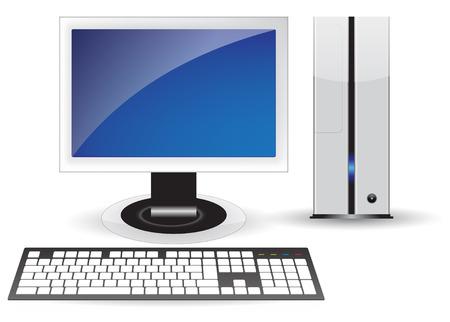 Pc desktop isolated Stock Vector - 6758290