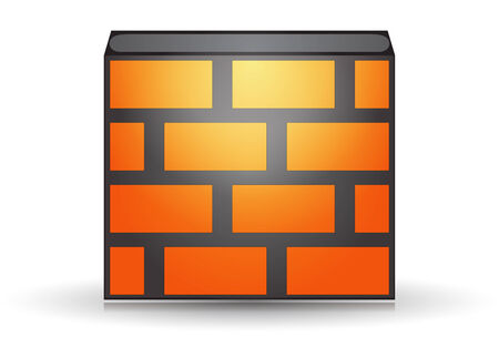 Orange firewall icon isolated concept Illustration