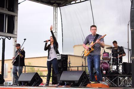 Laura Walsh performs at Queen Creek Block Party, Queen Creek, Arizona Editorial