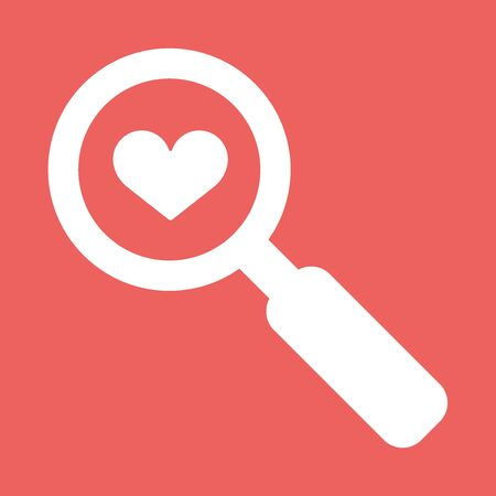 Searching a Love. Flat vector icon illustration EPS10