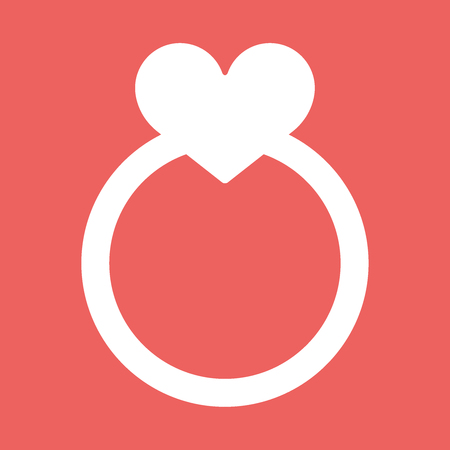 Wedding rings vector icon flat eps10 illustration