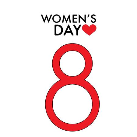 March 8 International Women s Day. Dreeting card flat illustration Illustration