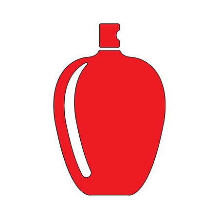 Ilustración de icono plana botella de perfume EPS 10