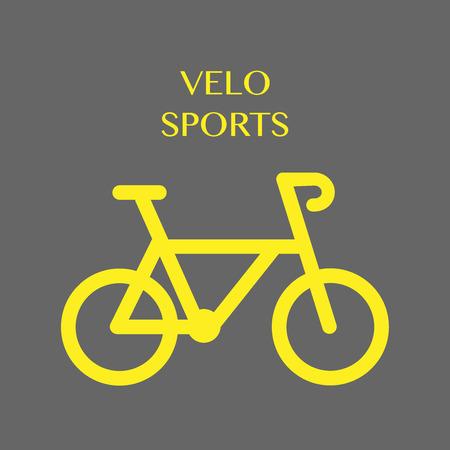 icon: Bicycle. Velo sports. Icon vector illustration EPS10