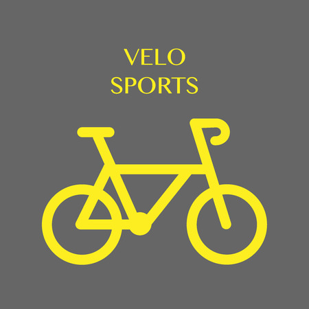 Bicycle. Velo sports. Icon vector illustration EPS10