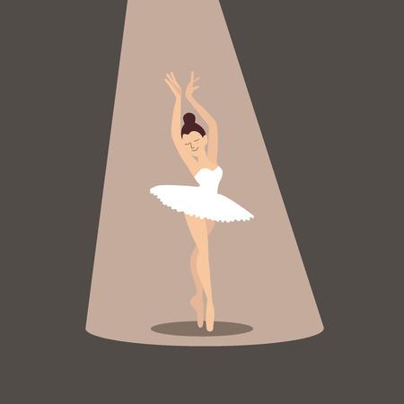 Ballerina flat illustration vector icon web EPS10.
