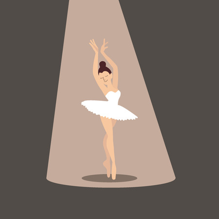 Ballerina flat illustration vector icon web EPS10.