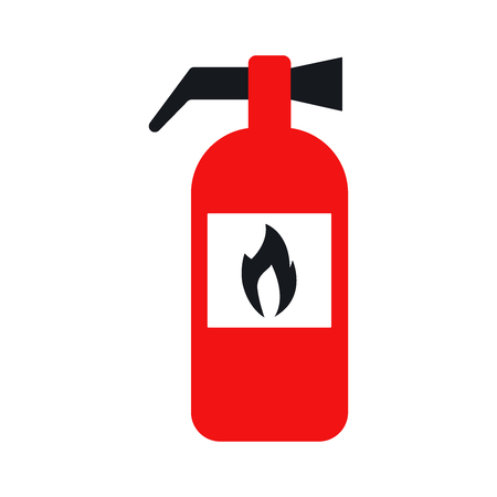 flammable: fire extinguisher. Icon vector illustration eps 10