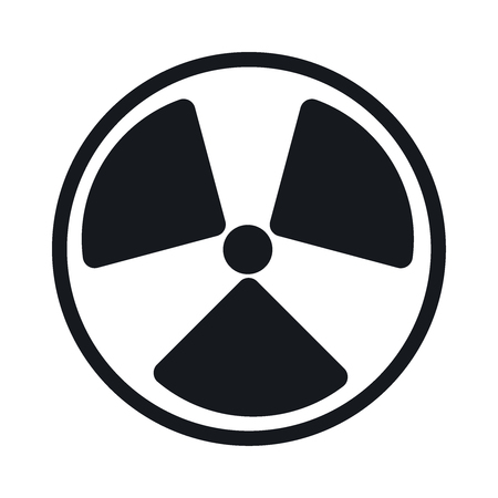 fission: radiation symbol. Flat vector illustrator Eps 10 Illustration