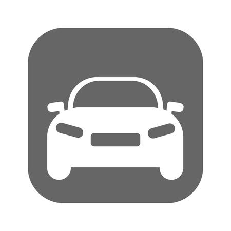 Car flat icon vector. Illustration eps 10 Illusztráció