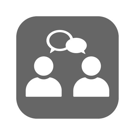 Conversation icon illustration isolated vector sign symbol eps10 Illustration