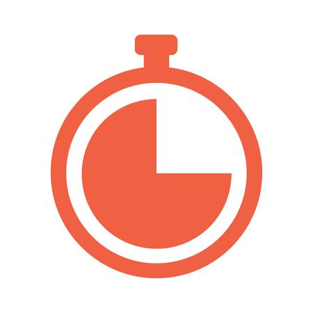 Stopwatch Vector icon   illustration flat