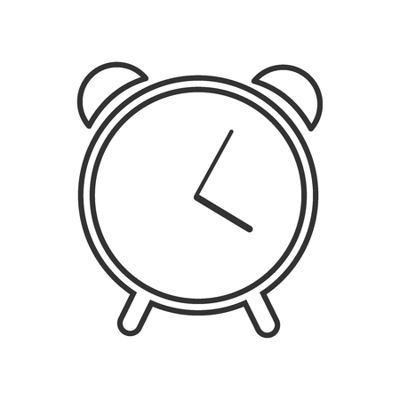 Web line icon. Alarm clock vector flat illustration eps10