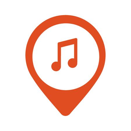 Music icon. location flat icon illustration.