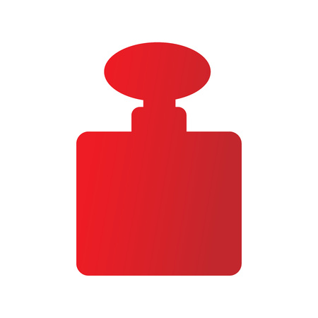Perfume red icon, vector sign on isolated background. Perfume concept symbol. Vector illustration style perfume in a glass bottle on a white background. Beautiful red perfume bottles. Vector concept score, shop, logo, banner, button. Иллюстрация