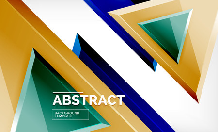 Triangular low poly background design, multicolored triangles