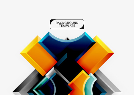 Geometrical 3d shapes background