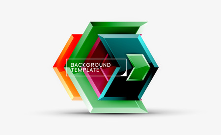 Arrow geometrical abstract background, directional wallpaper concept Banque d'images - 120407300