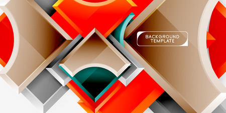 Geometric shapes abstract background