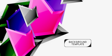 Triangular low poly background design, multicolored triangles. Vector