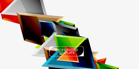 Minimal geometrical triangles with 3d effect abstract background template