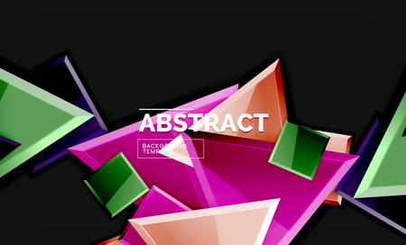 Glossy squares and triangles geometric backgrounds Banque d'images - 120545767