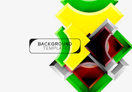 3d futuristic shapes vector abstract background made of glossy pieces with light effects. Modern design