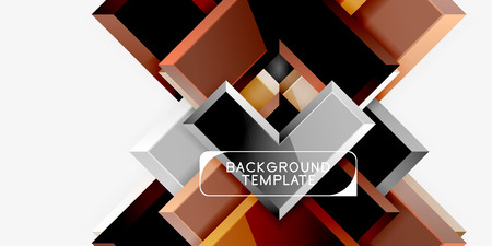 Glossy arrows geometric background, vector techno or business design template Иллюстрация