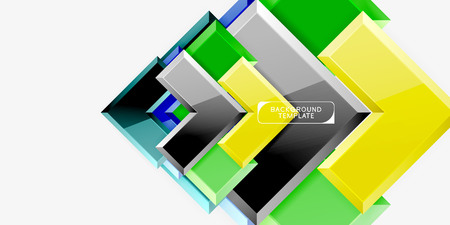 Glossy arrows background, vector illustration