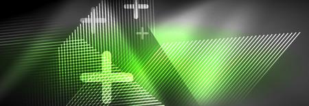Shiny glowing lights neon color design background, vector Иллюстрация
