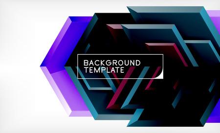 Techno arrow background, template design. Vector Иллюстрация