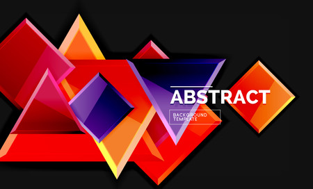 Glossy squares and triangles geometric backgrounds Banque d'images - 120546556