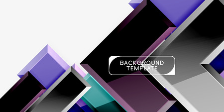 Glossy modern geometric background, abstract arrows composition. Vector